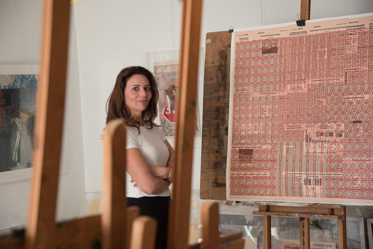 Dimitra Chanioti in her atelier